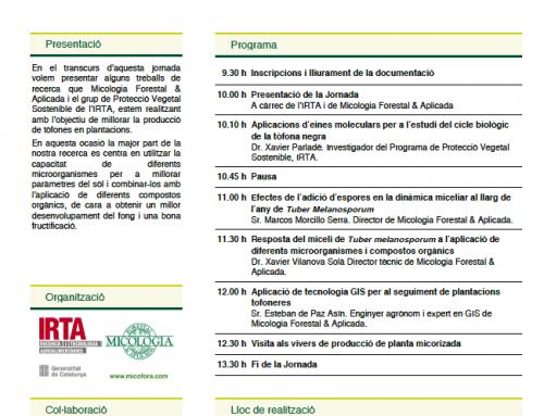 Jornada para presentar nuestra investigación en bacterias para truficultura